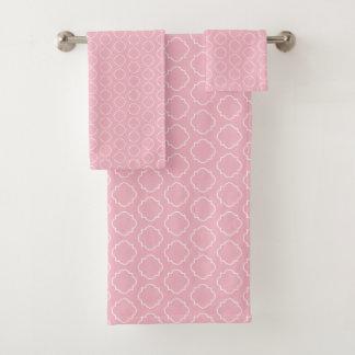 Grupo marroquino de toalha do banheiro do teste