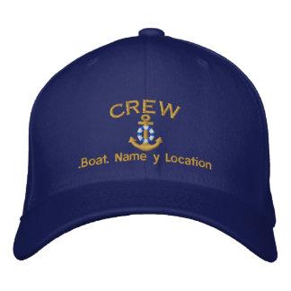 Grupo náutico seu nome do barco seu nome boné bordado