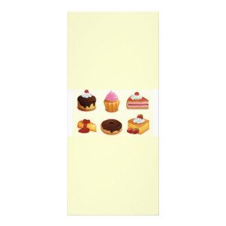 grupo saboroso do ícone 10.16 x 22.86cm panfleto