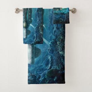 Grupo submarino de toalha do banheiro de Steampunk