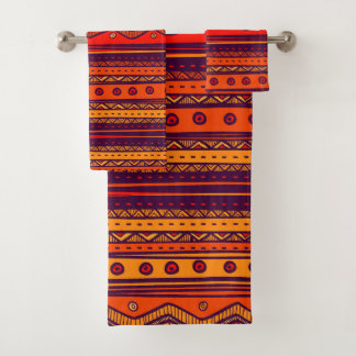 Grupo tribal africano temático de toalha do teste