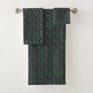 Grupo verde do *New*/roxo chique de toalha do