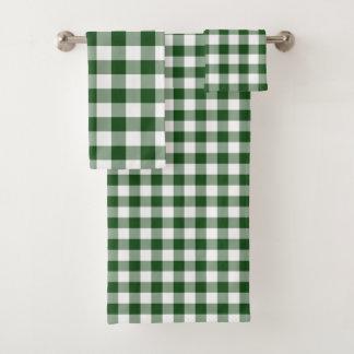 Grupo verde e branco considerável de toalha da