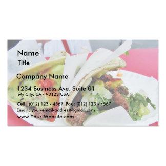 Guacamole do Tacos de Carne Asada Modelos Cartoes De Visitas
