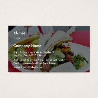 Guacamole do Tacos de Carne Asada Cartão De Visitas