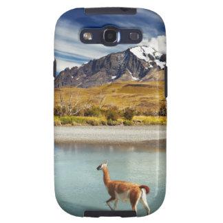 Guanaco que cruza o rio em Torres del Paine Capa Personalizadas Samsung Galaxy S3