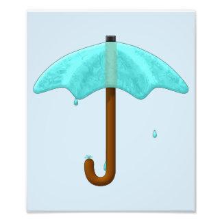 Guarda-chuva da água - impressão da foto