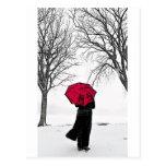 Guarda Chuva vermelho (Red umbrella) Cartoes Postais