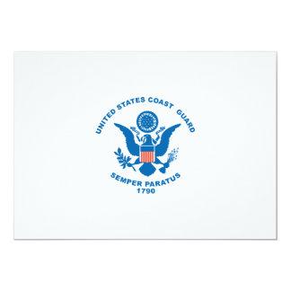 Guarda costeira dos Estados Unidos Convite 12.7 X 17.78cm