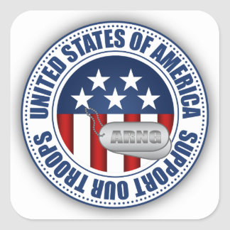 Guarda nacional do exército adesivo quadrado
