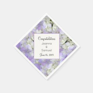 Guardanapo angular da recepção de casamento floral