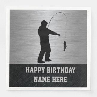 Guardanapo ásperos do aniversário da pesca