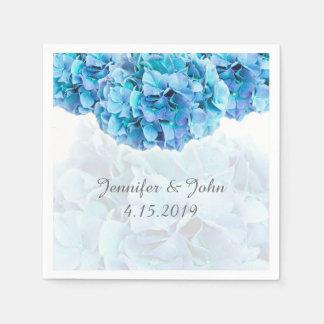 Guardanapo azuis da coleção do casamento do