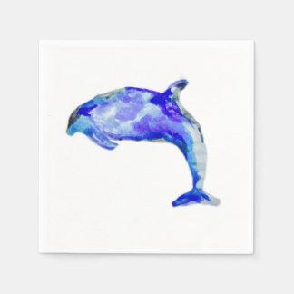 Guardanapo azuis do golfinho