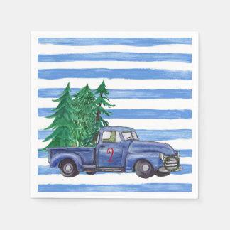 Guardanapo azuis do Natal do caminhão feitos sob
