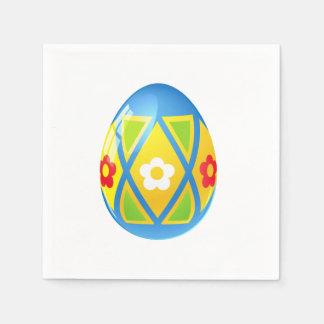 Guardanapo azuis do petisco do cocktail do ovo da