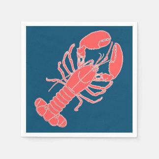 Guardanapo azuis escuro do marisco da lagosta