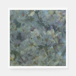Guardanapo azuis macios do impressionista do pomar