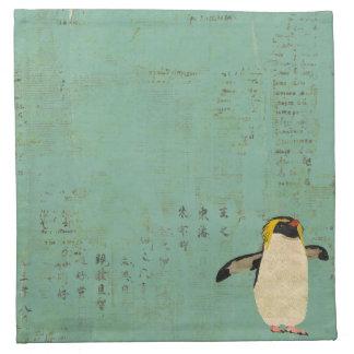 Guardanapo azul da lagoa dos pinguins