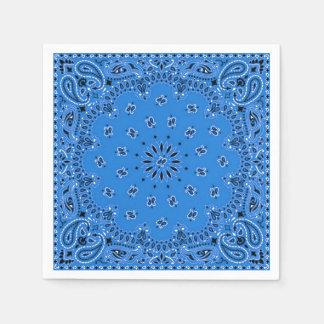Guardanapo azul do piquenique do CHURRASCO do