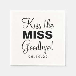 Guardanapo - beije a senhorita Adeus