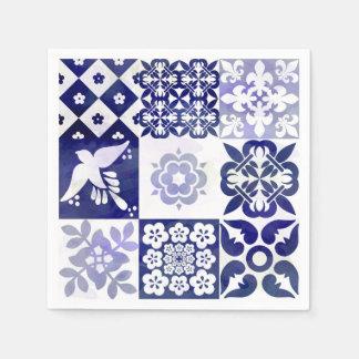 Guardanapo bonito de Azulejos