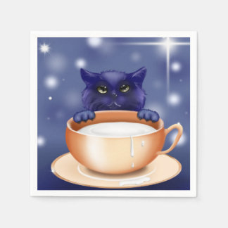 guardanapo bonitos do azul do gato do gatinho