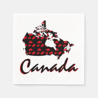 Guardanapo canadenses de Canadá do bordo vermelho