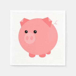 Guardanapo carnudos bonitos do partido do porco