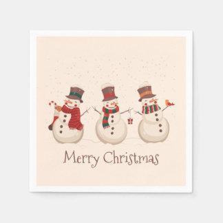 Guardanapo clássico do Natal | dos bonecos de neve