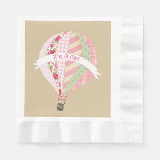 Guardanapo cor-de-rosa do chá de fraldas da menina