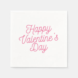 Guardanapo cor-de-rosa do feliz dia dos namorados