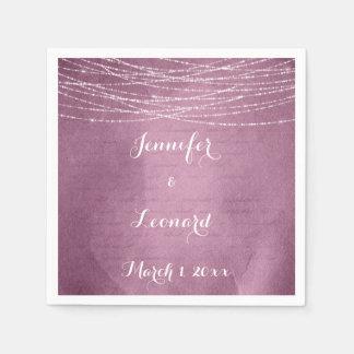 Guardanapo cor-de-rosa elegantes do casamento da