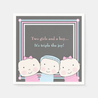 Guardanapo da alegria do bebê azul do rosa do