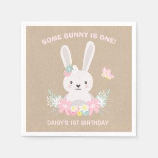 Guardanapo da festa de aniversário do coelho algum
