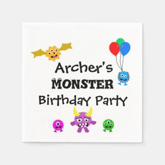 Guardanapo da festa de aniversário do monstro
