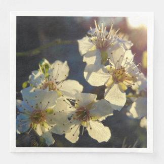 Guardanapo da flor de cerejeira