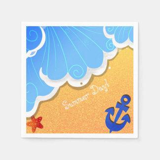 Guardanapo da praia do verão