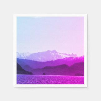 Guardanapo das montanhas roxas