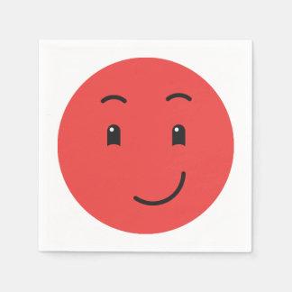 Guardanapo de papel 1/9 do smiley bonito