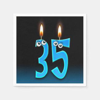 Guardanapo De Papel 35a vela do aniversário com globos oculares