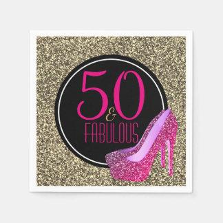 Guardanapo De Papel 50 & 50th saltos altos | elegantes fabulosos do