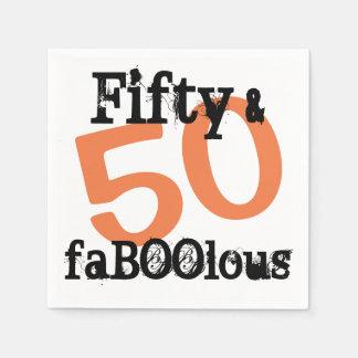 Guardanapo De Papel 50 e o Dia das Bruxas fabuloso - cinqüênta e