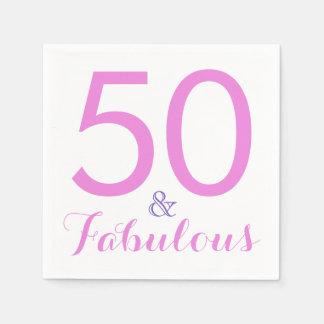 Guardanapo De Papel 50 e rosa na moda fabuloso da bolsa mensageifesta