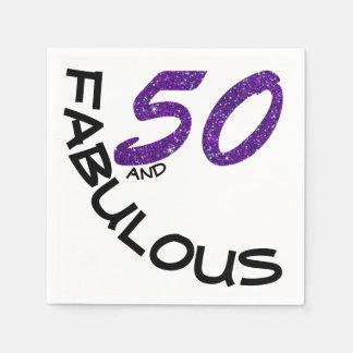 """Guardanapo De Papel 50 roxos & pretos do brilho do falso """"e fabuloso """""""