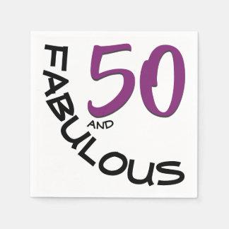 "Guardanapo De Papel ""50 roxos & pretos e"" festa de aniversário"