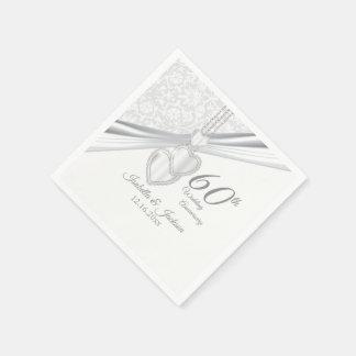 Guardanapo De Papel 60th Aniversário de casamento do diamante