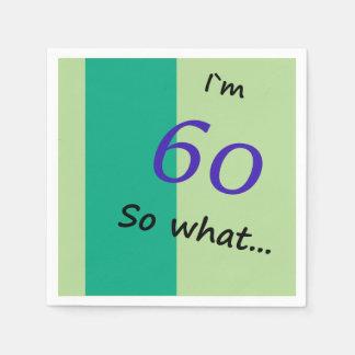 Guardanapo De Papel 60th ` Engraçado m 60 do aniversário I assim que
