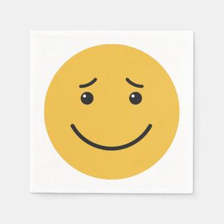 Guardanapo de papel 6/9 do smiley bonito
