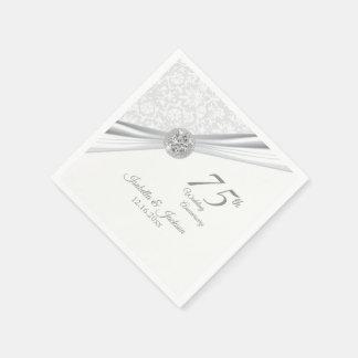 Guardanapo De Papel 75th Aniversário de casamento do diamante